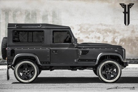 The Flying Huntsman 105 Longnose Land Rover Defender by Kahn Design