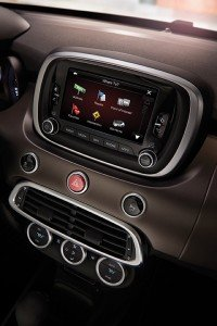 2016 Fiat 500X Lounge Uconnect Navigation home screen