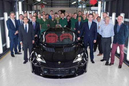 First Lotus Evora 400 Rolls Out at Hethel