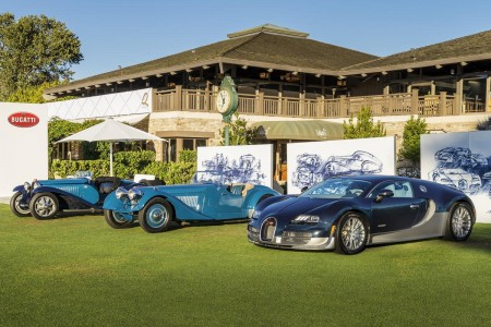 The Bugatti line-up at The Quail: A Parade of Superlatives
