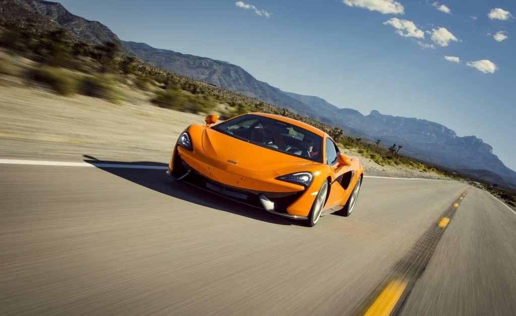 McLaren-Sport-Series-570S-Orange-Driving-Front