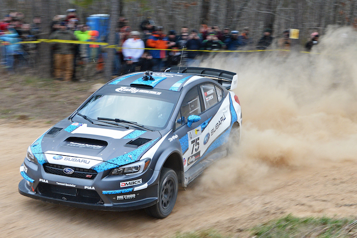 David_Higgins_flies_through_a_corner_during_Rally_in_the_100_Acre_Wood._