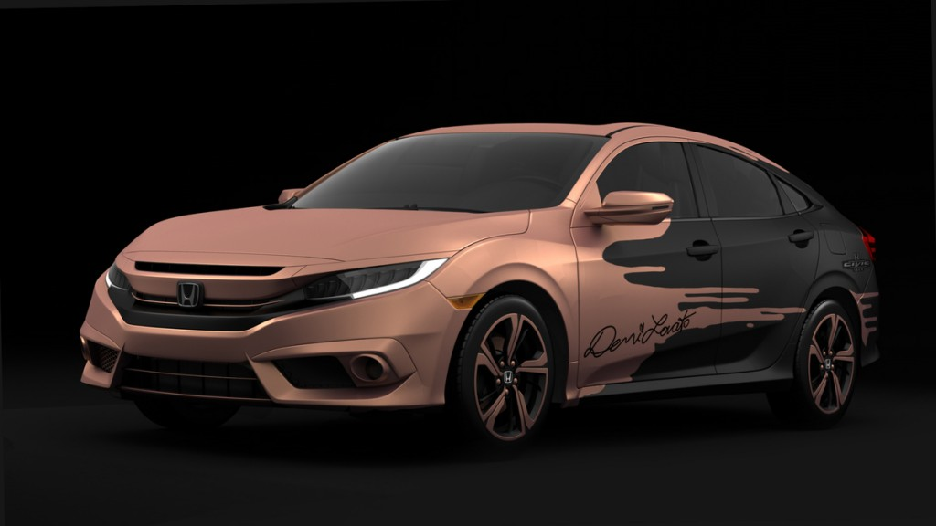 2016 Honda Civic Sedan designed and autographed by Demi Lovato