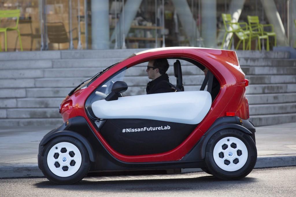 """El vehículo concepto """"Nissan New Mobility"""" tiene el potencial de ayudar a reducir la contaminación y la congestión a causa del tráfico."""