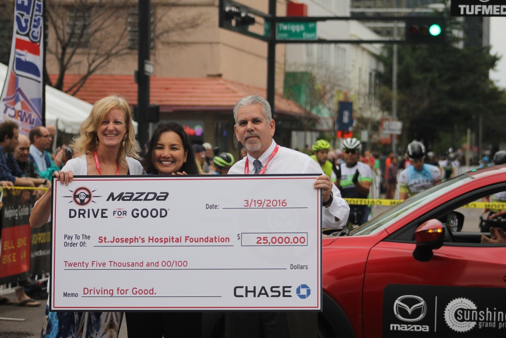 Mazda Drive for Good CHASE Check Presentation to St Josephs