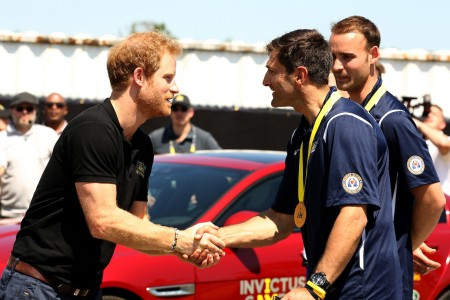 Prince Harry Takes Part In The Jaguar Land Rover Driving Challenge And Awards France The First Gold Medal At Invictus Games Orlando 2016