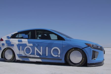Hyundai Ioniq Hybrid Sets 157.825 mph, FIA-Approved Land Speed Record at Bonneville Salt Flats
