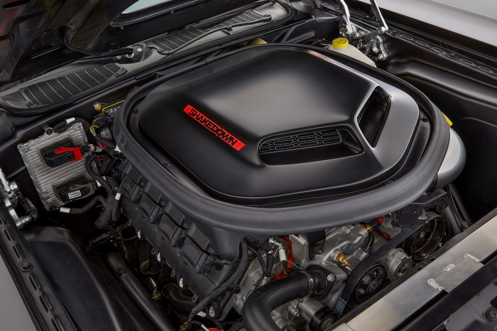 The Dodge Shakedown Challenger, a blend of design cues from the past and present, features a new Mopar 392 Crate HEMI® Engine Kit under the hood to help administer a 6.4-liter HEMI® jolt to the heart of the classic 1971 Challenger.