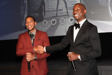 THE FATE OF THE FURIOUS: Ludacris and Tyrese Celebrate Atlanta