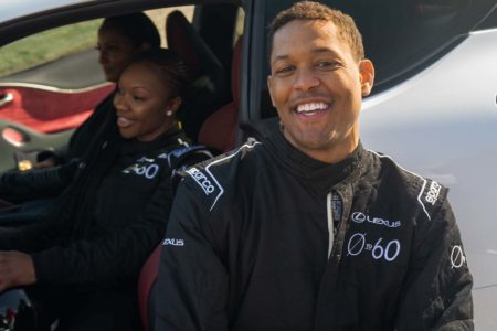 Lexus 0 to 60 Celebrity Racing Series with actor Curtis Hamilton