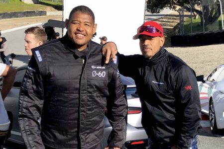 Lexus 0 to 60 Celebrity Racing Series with actor Omar Miller