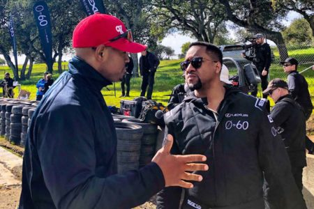 Lexus 0 to 60 Celebrity Racing Series with actor Jaleel White
