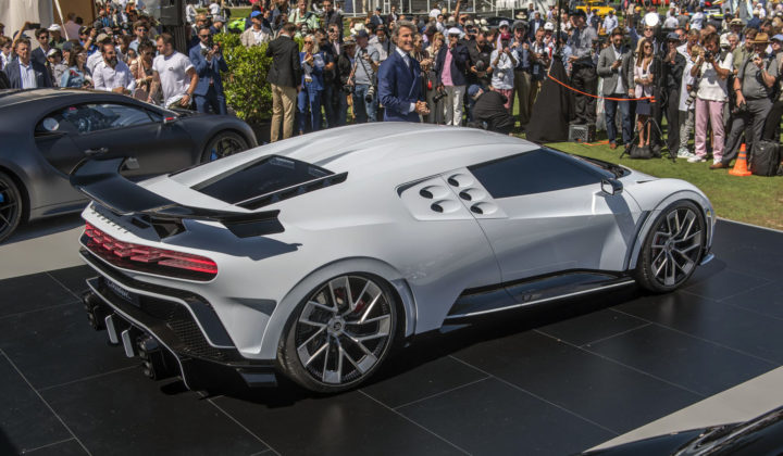 Eight Million EUR Bugatti Centodieci Super Sports Car presented at The Quail – A Motorsports Gathering