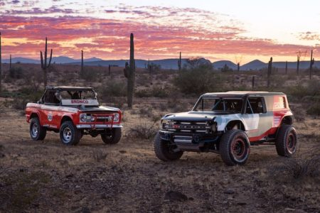 Ford's Bronco R Race Prototype Debuts in the Desert