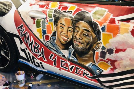 Kobe and Gianna Bryant Toyota Supra Art Car